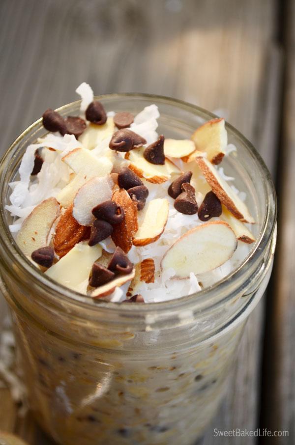 Almond Joy Overnight Oats | Sweet Baked Life