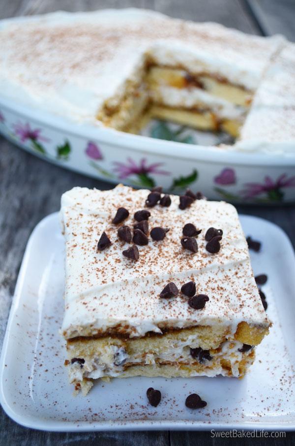 Espresso Chip Tiramisu - an easy, no-bake dessert | Sweet Baked Life