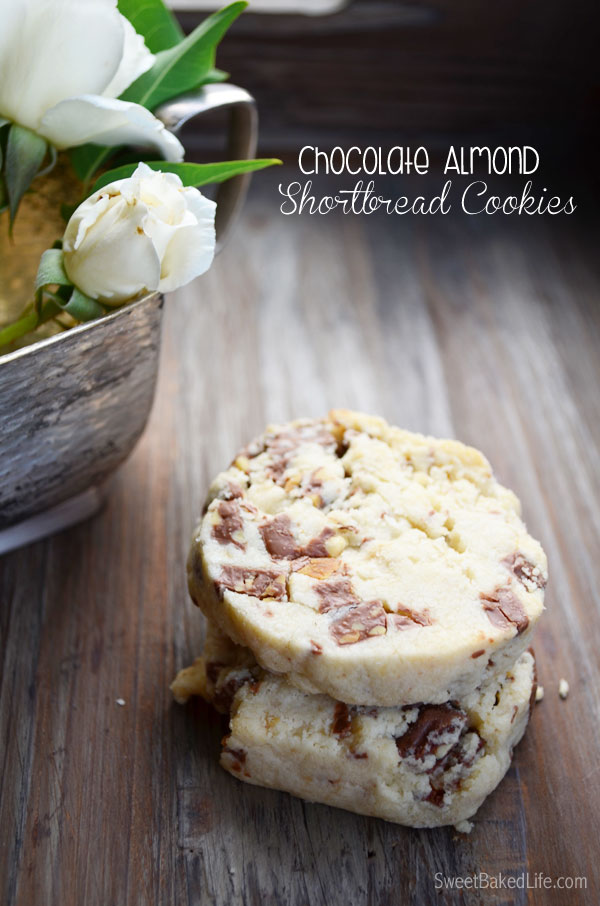 Chocolate Almond Shortbread Cookies | Sweet Baked Life