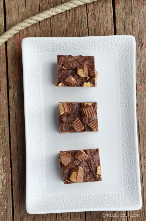 Smooth and creamy Peanut Butter Cup Fudge | Sweet Baked Life
