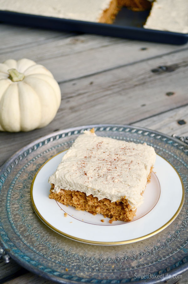 Pumpkin Spice Cake with Brown Sugar Marshmallow Buttercream Frosting  Sweet Baked Life
