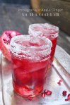 Cheer the New Year with this Pomegranate Apple Ginger Vodka Cocktail | Sweet Baked Life