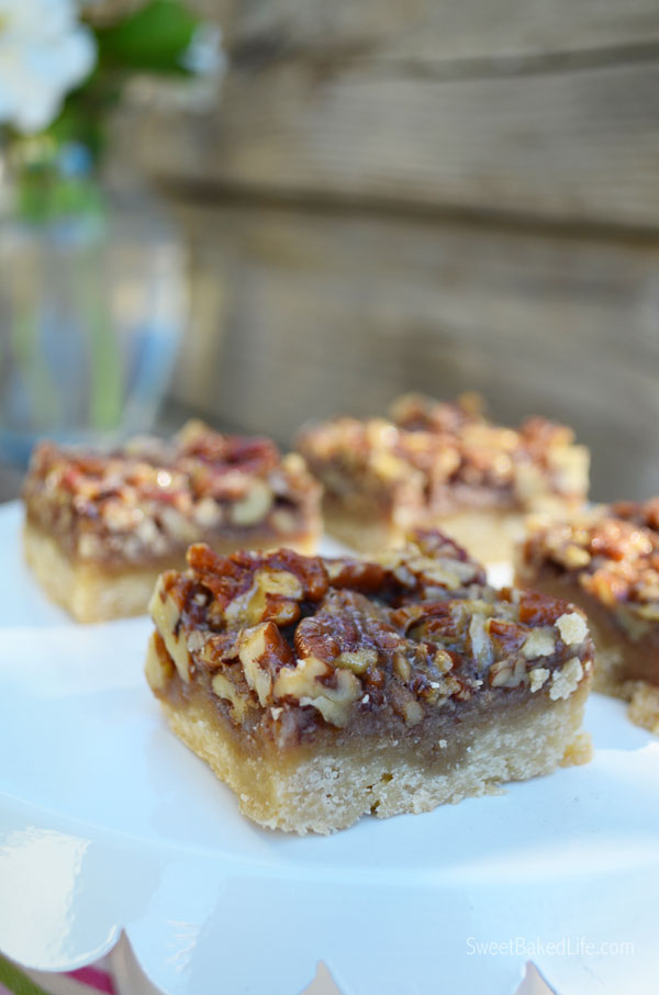 Pecan Squares -- easy to make and better than traditional Pecan Pie! | Sweet Baked Life