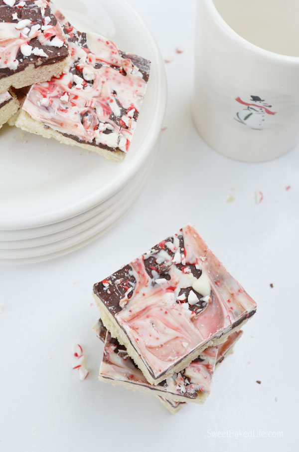 Peppermint Bark Cookie Bars - easy to make and the flavor combination is incredible. So pretty too! | Sweet Baked Life