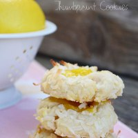 Lemon Coconut Thumbprint Cookies {with easy homemade lemon curd}
