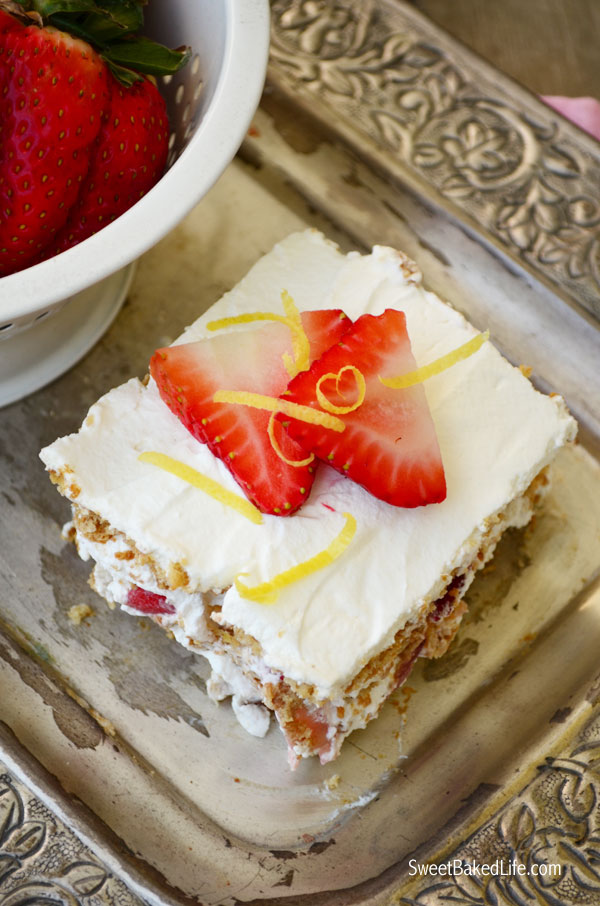 Strawberry Lemon Icebox Cake