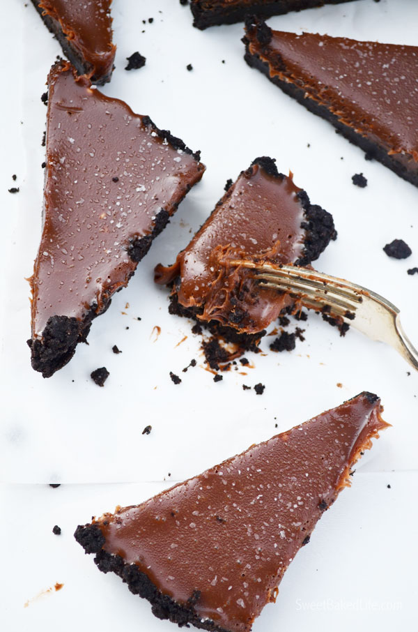 Chocolate Malt Tart - no bake and delish! | Sweet Baked Life