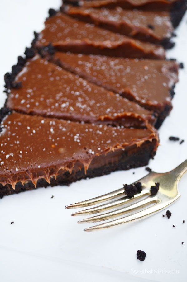Chocolate Malt Tart - no bake and delish! | Sweet Baked Life