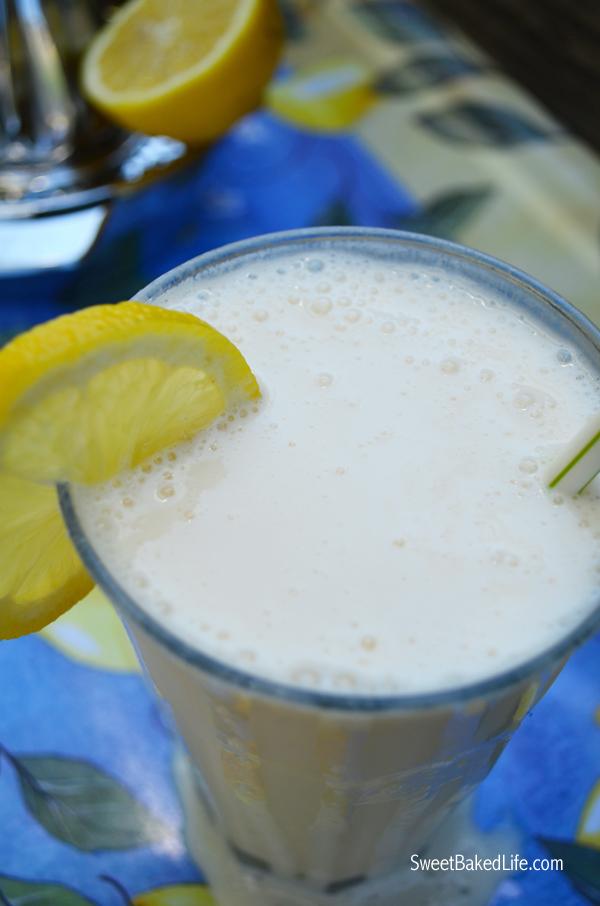 2 ingredient Frosty Lemonade