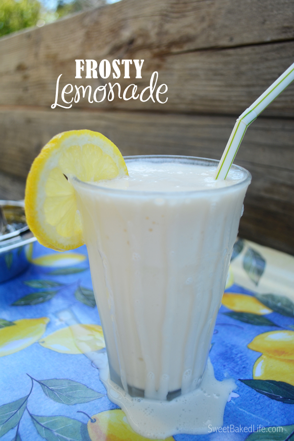 2 ingredient Frosty Lemonade