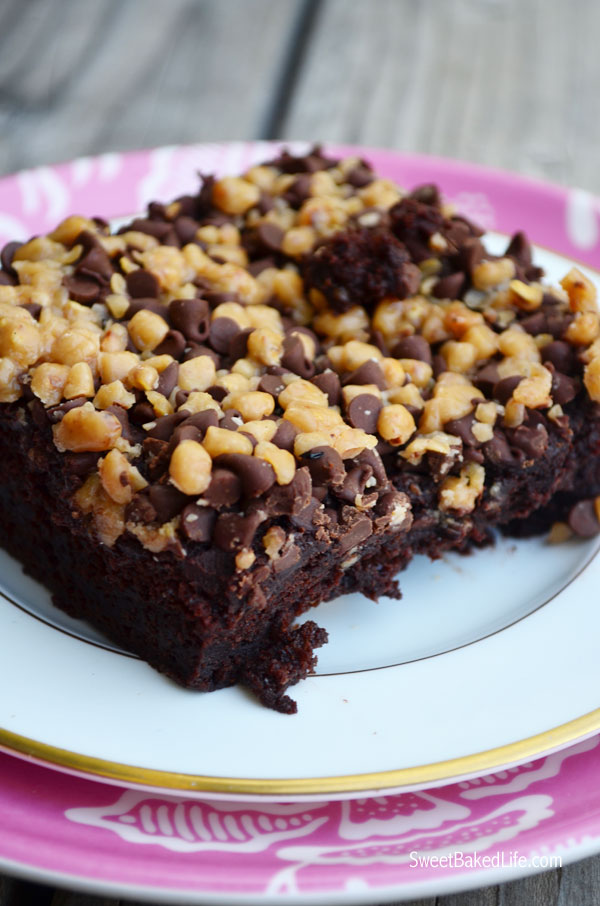 Chocolate Chip Toffee Pudding Cake | Sweet Baked Life