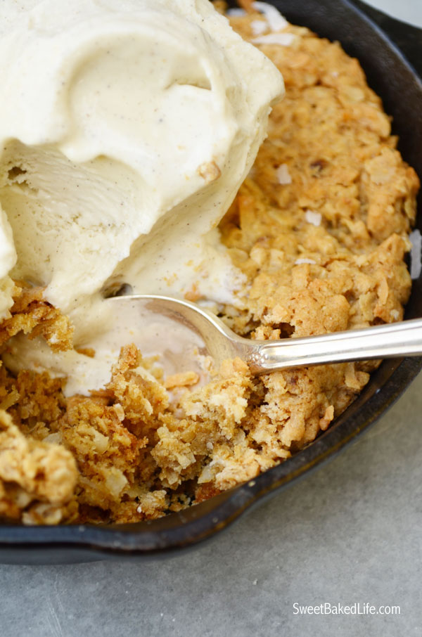 Mini Oatmeal Coconut Skillet Cookies   Sweet Baked Life