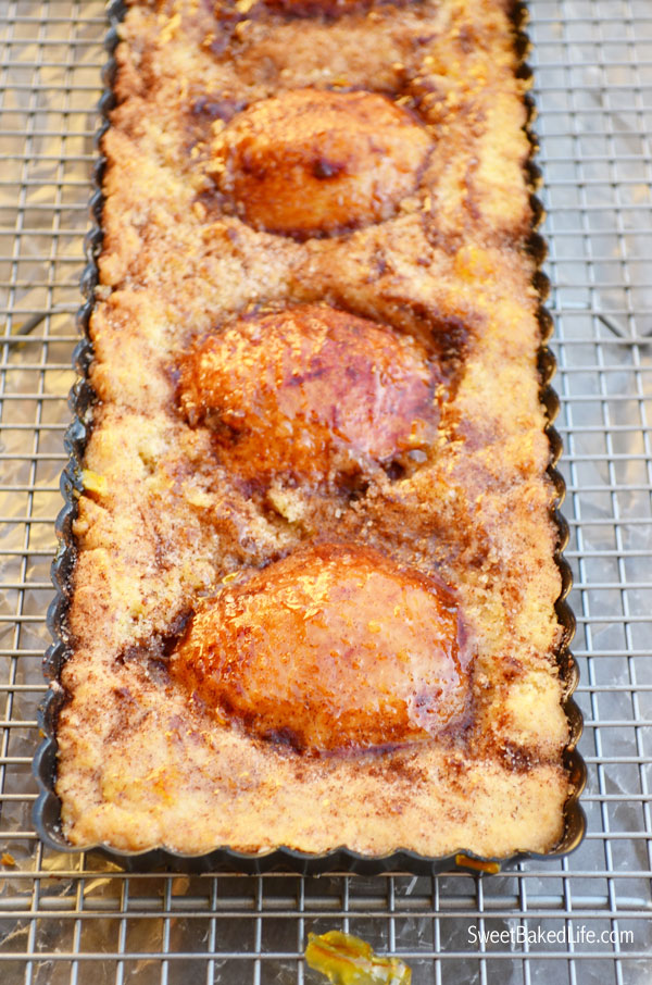 Pear Tart with Lemon Scented Orange Marmalade Glaze | Sweet Baked Life