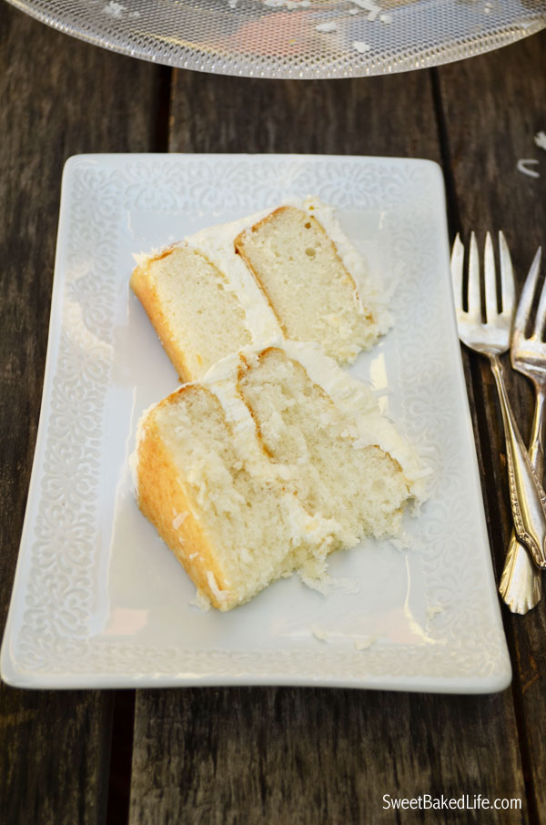 Coconut Cake with whipped Coconut Buttercream Frosting   Sweet Baked Life