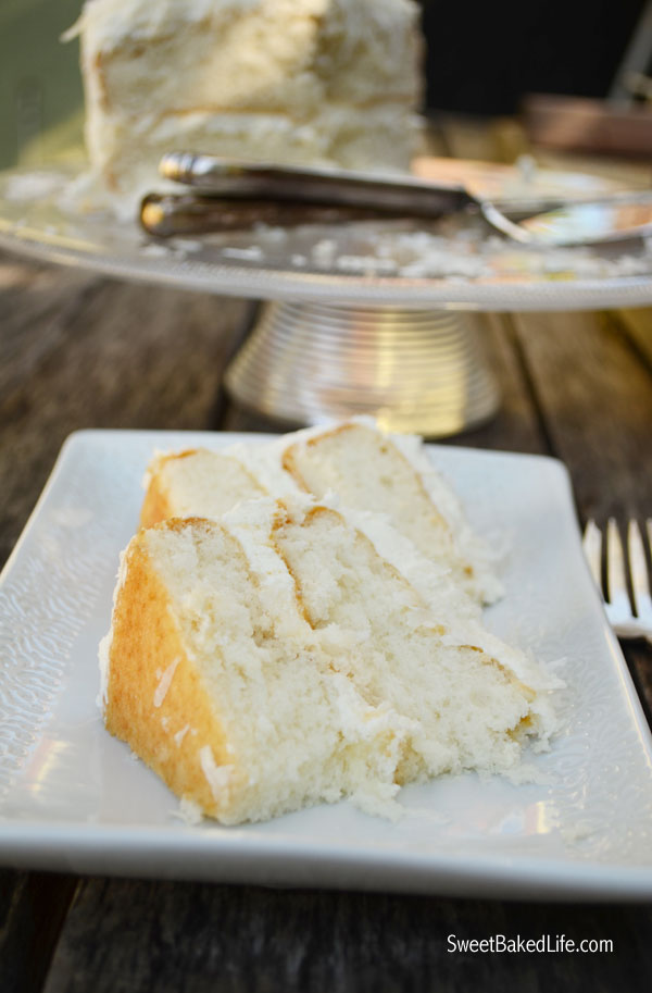 Coconut Cake with whipped Coconut Buttercream Frosting | Sweet Baked Life