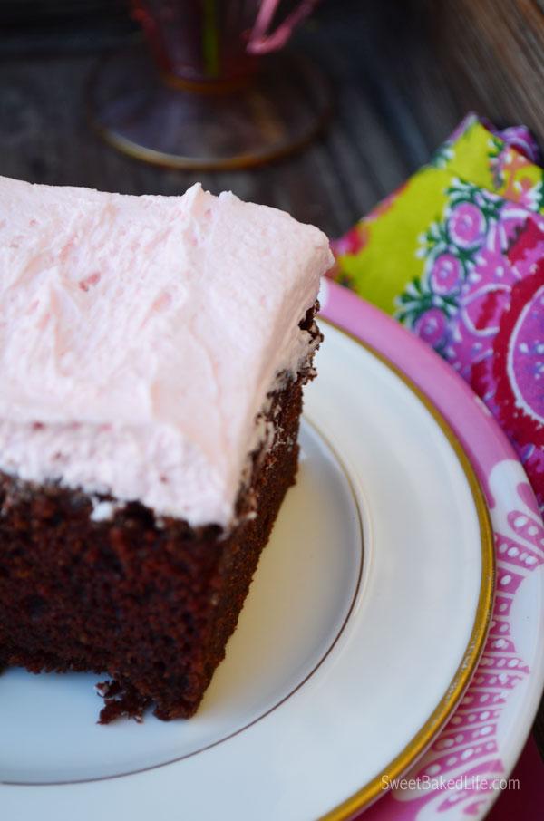 Pink & Chocolate Cake | Sweet Baked Life