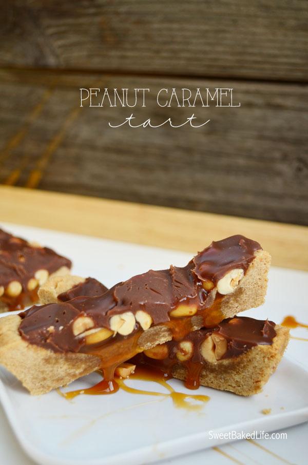 Peanut Caramel Tart } Sweet Baked Life