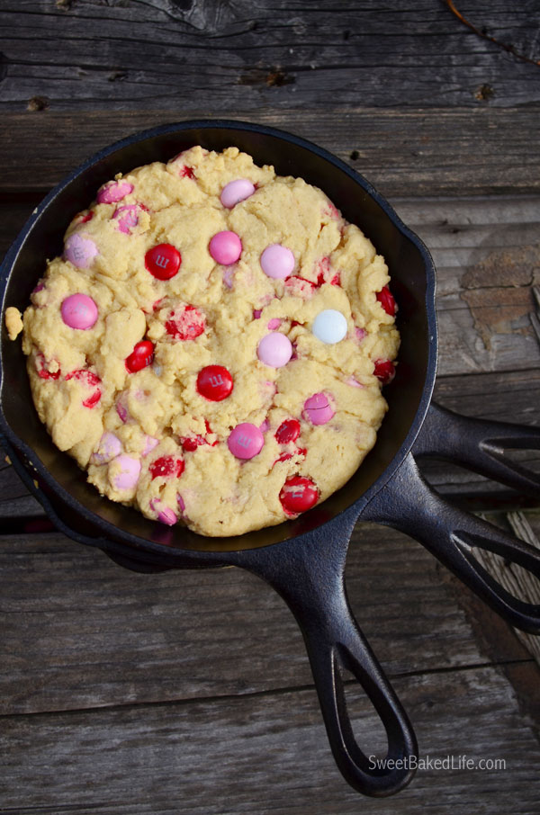 Valentine Mini Skillet Cookies | Sweet Baked Life