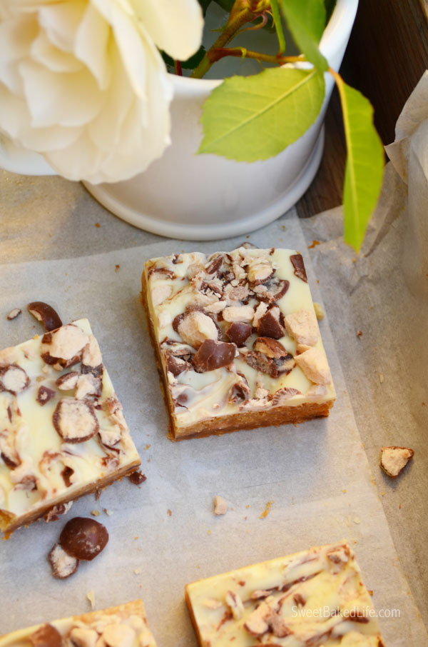 White Chocolate Malted Sugar Cookie Bars   Sweet Baked Life