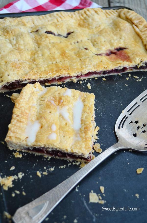 Cherry Slab Pie @ SweetBakedLife