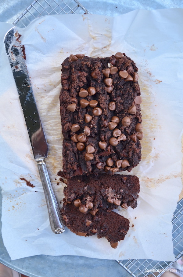 Double Chocolate Banana Bread - Gluten Free @sweetbakedlife