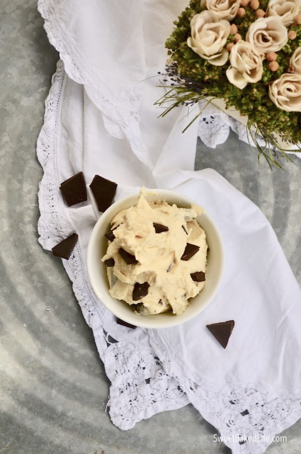 Edible Chocolate Chunk Cookie Dough - grain free | Sweet Baked Life