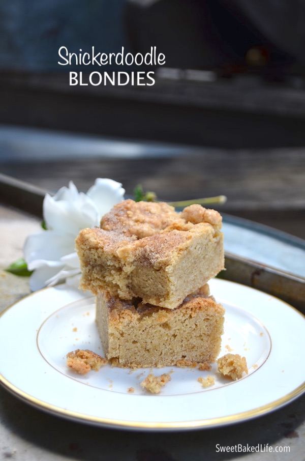 Snickerdoodle Blondies @sweetbakedlife
