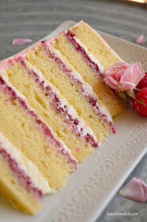 Peachy Lemon Raspberry Anniversary Cake Sweet Baked Life Funny Birthday Cards Online Drosicarndamsfinfo