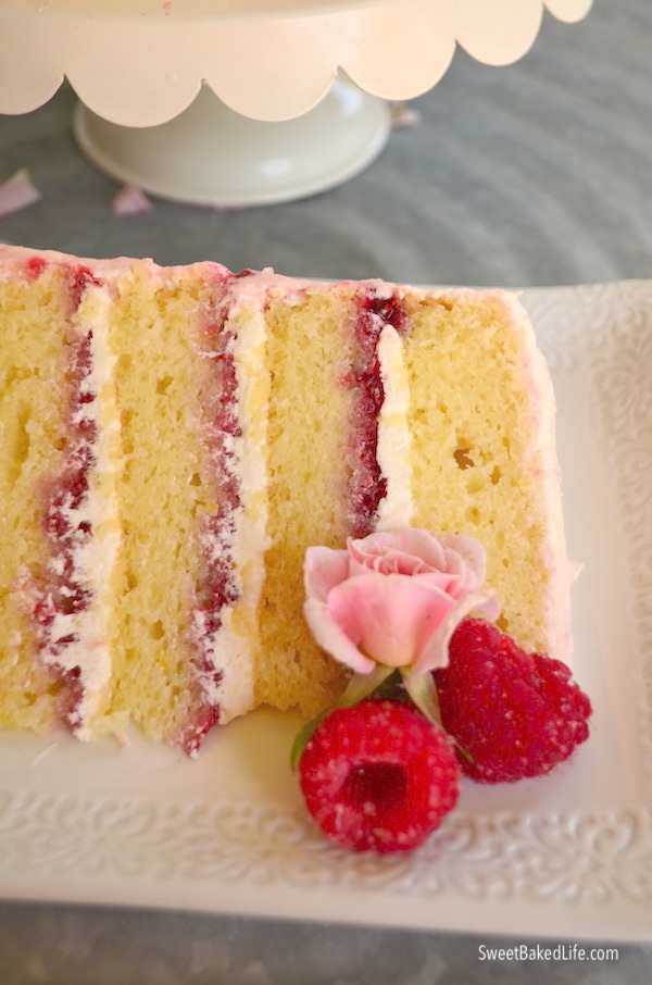 Lemon Raspberry Cake - it's incredible @sweetbakedlife