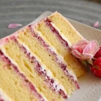 Lemon Raspberry Anniversary Cake