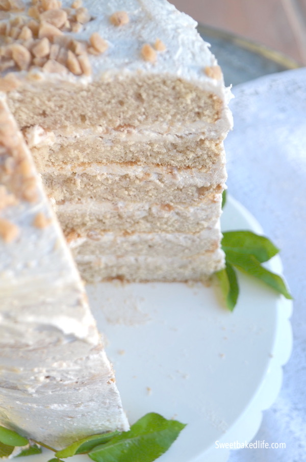 Snickerdoodle Crunch Cake @sweetbakedlife.com