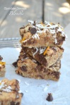 Chocolate Coconut Blondies with a hint of orange! @sweetbakedlife