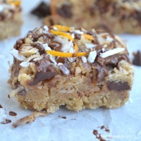 Chocolate Coconut Blondies {with a hint of orange}