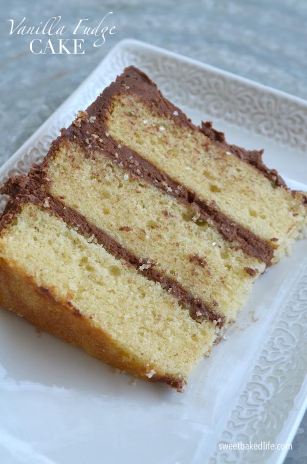 Vanilla Fudge Cake - @sweetbakedlife