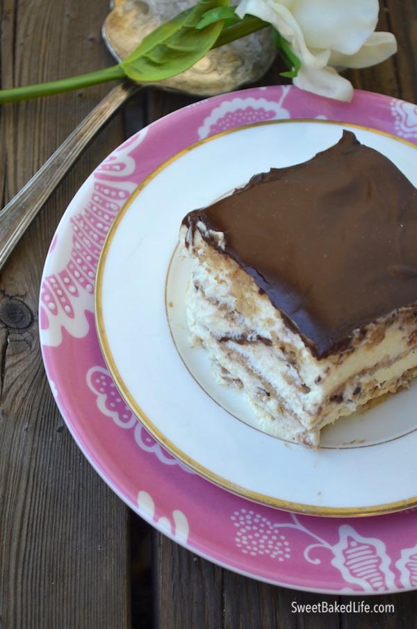 Eclair Icebox Cake @sweetbakedlife.com