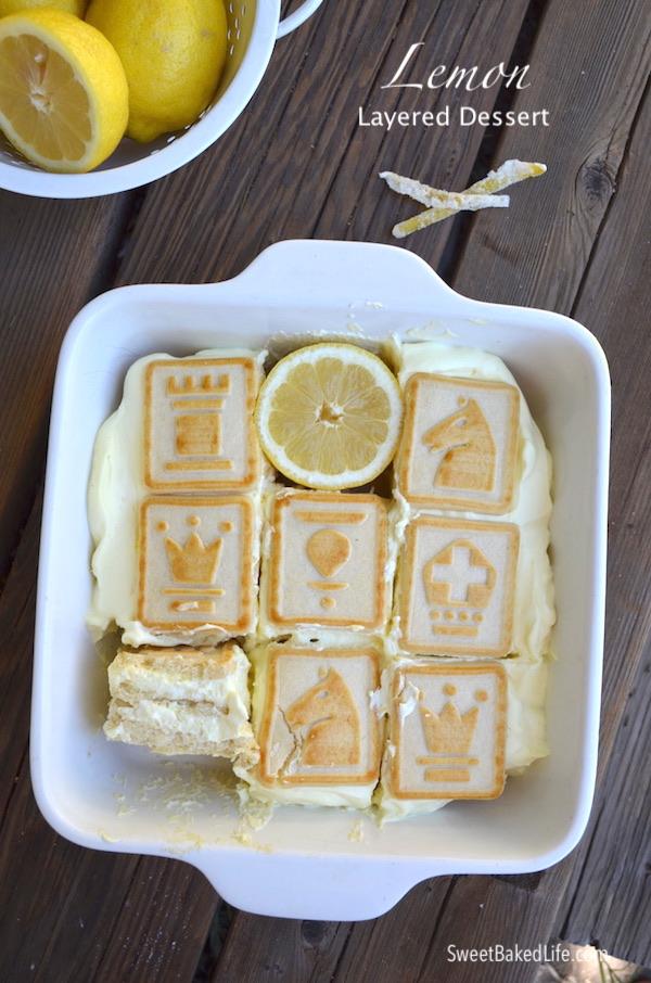 You've got to try this no-bake Lemon Layered Dessert @SweetBakedLife