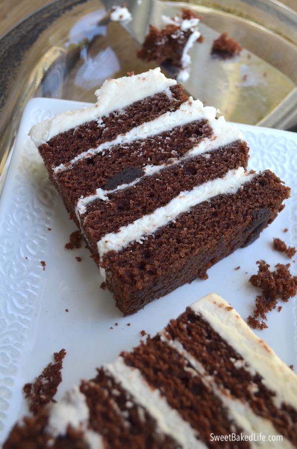 Chocolate Layer Cake @sweetbakedlife