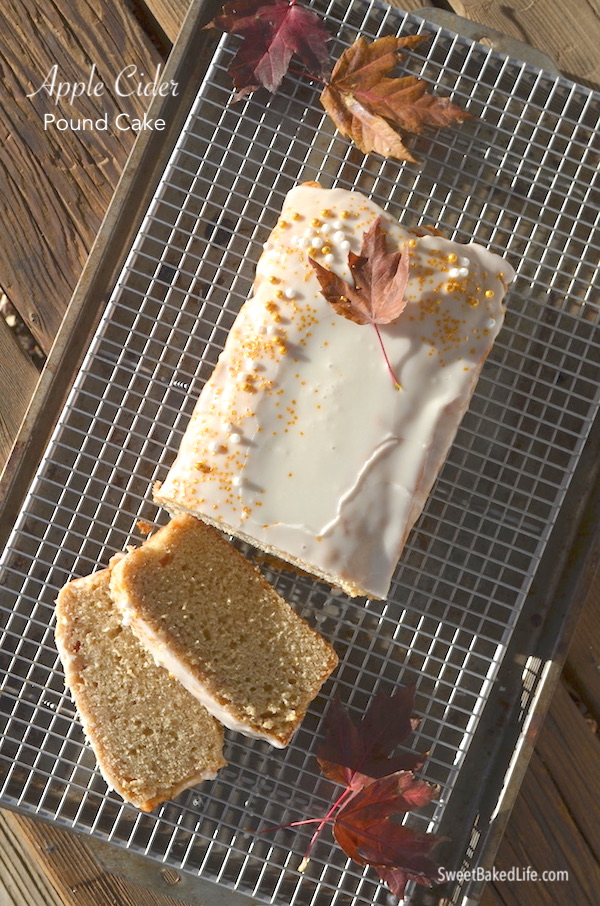 Apple Cider Pound Cake @sweetbakedlife